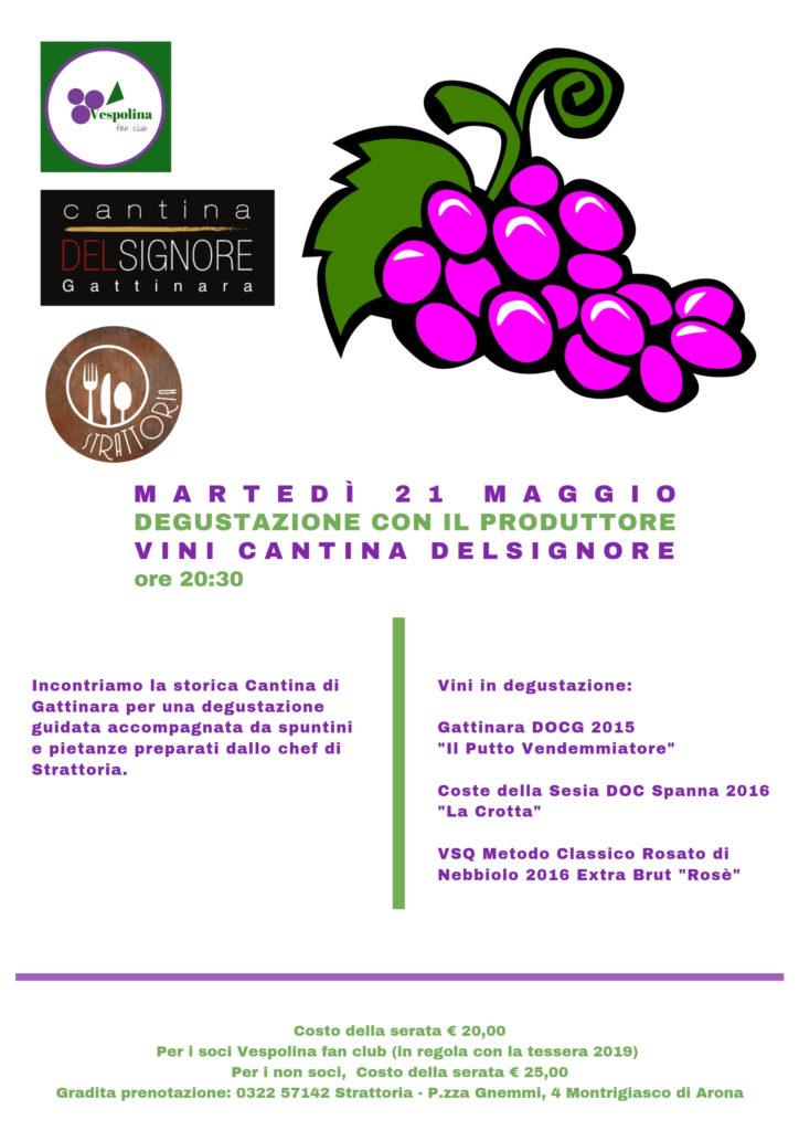 strattoria a Montrigiasco di Arona, serata di degustazione vini